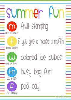 summer fun week preschool and toddler fun Colored Ice Cubes, Mouse A Cookie, Pool Days, Toddler Fun, Summer Fun, Teaching, Crafts, Baby Girls, Preschool