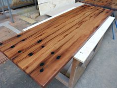Recycled Timber Bench, the timber used here is recycled Ironbark.  For pricing and enquiries please contact us via our contact form on our website www.recycledtimberfactory.com.au or call us on (02) 49565450