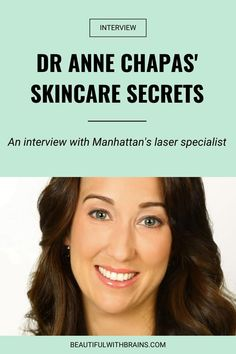 Dr Anne Chapas is a strong believer in evidence-based medicine. She's always delving into the latest scientific research, so she can deliver the best results for her patients. In this interview, Dr Chapas shares how she takes care of her skin. Click pin to find out her fave products, lifestyle habits for glowing skin and more #skincareexpertinterview #skincareinterviews Evidence Based Medicine, Top Skin Care Products, Acne Solutions, Dermal Fillers, Sagging Skin, How To Get Rid Of Acne, Prevent Wrinkles, Skin Care Treatments