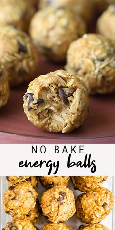 These peanut butter no bake energy balls require only one bowl, eight ingredients and about 10 minutes of prep time. You'll love having them as an EASY portable snack option!  #mealprep #energyballs #peanutbutter #oats #flax #healthysnack #nobake #eatingbirdfood Healthy Sweets, Healthy Dessert Recipes, Healthy Baking, Breakfast Recipes, Snack Recipes, Cooking Recipes, Health Desserts, Healthy No Bake, Healthy Quick Recipes