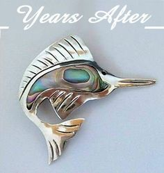Vintage Sterling Silver TAXCO Mexican Brooch Signed EAGLE Mark, Mother of Pearl Shell c.1940's!