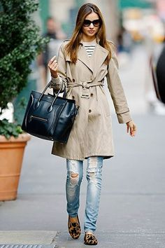 jeans + trench