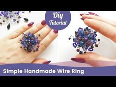 How to Make a DIY Ring. Simple Handmade Ring from Beads. - YouTube