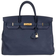 205508bd1d Hermès Birkin 40cm Navy and Gold Togo Bag