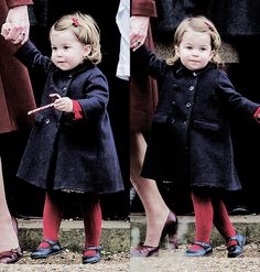 Princess Charlotte attends Church on Christmas Day on December 25, 2016 in Bucklebury, Berkshire.