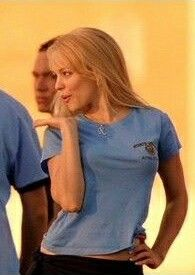 Regina George- Mean Girls her hair is full of secrets Regina George, Blue Aesthetic, Aesthetic Vintage, Chuck Norris, Iconic Movies, Good Movies, Girly, Logan Lerman, 2000s Fashion
