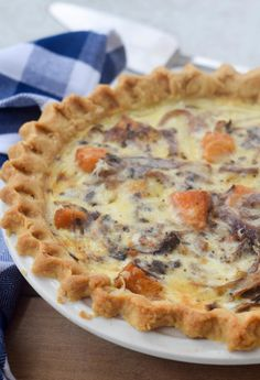 A winter vegetable quiche with sweet butternut squash and nutty sautéed radicchio is the perfect breakfast to serve guests. Recipes makes two quiches: one for now and one for later or perfect to feed a crowd.