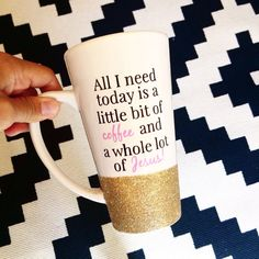 Personalized Coffee cup // Glitter Dipped by TwinkleTwinkleLilJar