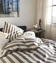 Bettwäsche | Leinen Bettwäsche Blockstreifen von Schlitzer Leinen |