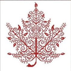 Maple Leaf - Cross Stitch Pattern I don't cross stitch but this is really pretty