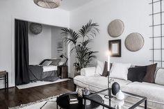 Studio Apartment Living, Small Apartment Bedrooms, One Room Apartment, Small Apartment Interior, Studio Apartment Decorating, Room Interior, Interior Design, One Bedroom, Home Decor Bedroom
