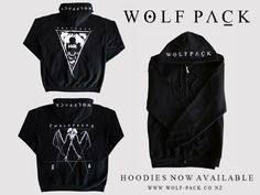 2014 Hoodies now available.  www.wolf-pack.co.nz