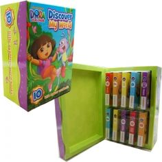 Dora The Explorer Discover My World 10 Little Explorer Word Books Collection In Box Set