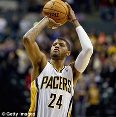 George is an NBA All-Star- Indiana Pacers player Paul George and former stripper Daniela Rajic resolve paternity case regarding their 7-month-old baby girl  Read more: http://www.dailymail.co.uk/news/article-2849856/Indiana-Pacers-player-Paul-George-former-stripper-Daniela-Rajic-resolve-paternity-battle-regarding-7-month-old-baby-girl.html#ixzz3KDolfBXX  Follow us: @MailOnline on Twitter | DailyMail on Facebook