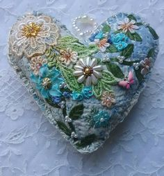 Crazy Quilt Heart by Nicki Seavey