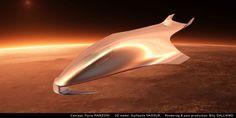 Ferrari design director Flavio Manzoni designed a futuristic spaceship concept. The Flavio Manzoni's private spaceship concept, features a front and rear… Spaceship 3d Model, Spaceship Art, Spaceship Design, Ferrari Laferrari, Logo Ferrari, Ferrari California, Top Gear, Ufo, Bugatti