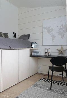 Asuntomessut 2016 - TOP 3 Kohteet | Esmeralda's Room Design Bedroom, Modern Bedroom Design, Small Room Bedroom, Home Bedroom, Interior Design Living Room, Loft Bed Plans, Cool Kids Bedrooms, Appartement Design, Cool Bunk Beds