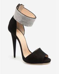 Giuseppe Zanotti Crystal Ankle Wrap Strap Sandal