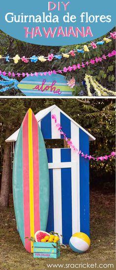 Cómo hacer una guirnalda de flores hawaiana. Fiesta hawaiana. Fiesta Tropical. #diy #guirnaldahawaiana #guirnalda #flores #hawaiana #guirnaldaflores #flowergarland #tropicalparty