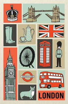 Collage of London; @Jenn L Milsaps L Milsaps L D. I want this print!!!