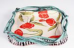 Tray with Vines, Red...  Poppies by Laurie Regan Chase (Giclee Print)