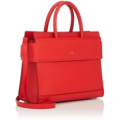 Givenchy Women's Horizon Small Bag (34.921.970 IDR) ❤ liked on Polyvore featuring bags, handbags, strap bag, flat purse, red purse, hardware bag and flat bags