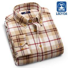 Langmeng 2016 brand 100% cotton flannel men shirt slim fit mens long sleeve plaid dress shirts spring autumn casual shirts male