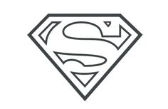 superman symbol outline - Google Search