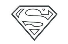 superman symbol outline - Google Search