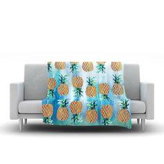 8826edbf82191 Pineapple Beach by Nikki Strange Fleece Blanket