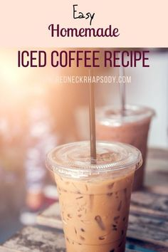 Best Iced Coffee, Iced Coffee At Home, Iced Coffee Drinks, Coffee Drink Recipes, Easy Coffee, Coffee Coffee, Keurig Recipes, Healthy Iced Coffee, Coffee Signs
