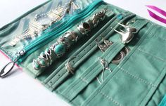 Travel jewelry roll, holder, wrap, organiser. Made to order, you choose the fabric. on Etsy, $42.29