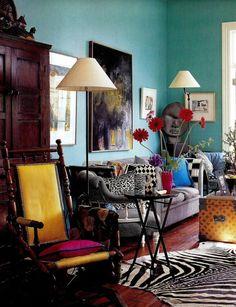 Boho Eclectic Living Room Design
