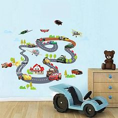 The Fashion Seller-Wall Stickers Wall Decals, Children Auto Orbit PVC Wall Stickers * Remarkable discounts available  : Nursery Decor