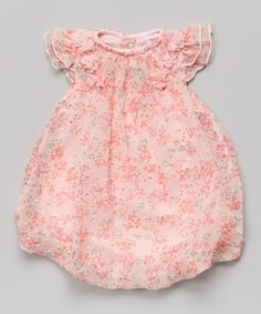 Another great find on #zulily! Baby Essentials Pink Floral Bubble Bodysuit by Baby Essentials #zulilyfinds
