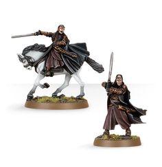 Elrond à pied et monté