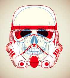 illustration, poster, star wars, storm trooper, virt, x-ray