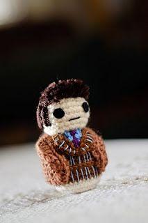 Tenth Doctor - David Tennant    .Evil Crochet Genius: A Complete Set of Doctor Who Amigurumi