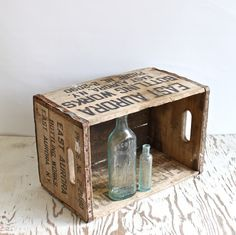 For the bathroom. bottle cartons are way cooler than baskets.