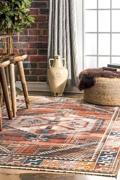 Rugs USA Rust Edessa Temporal Medallion Tassel rug - Transitional Rectangle x Living Room Orange, Rugs In Living Room, Living Area, Cost Of Carpet, Bohemian Wall Decor, 8x10 Area Rugs, Transitional Rugs, Interior Rugs, Rugs Usa