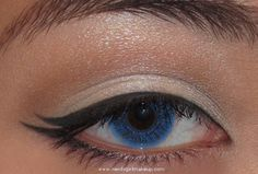 Double winged eyeliner by Nerdy Girl Makeup.  Must try this look.