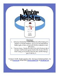 Winter Hedbanz Game