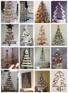 me ~ Timber Christmas Tree Ideas Best Christmas Lights, Wall Christmas Tree, Pallet Christmas, Xmas Tree, Christmas Art, All Things Christmas, Simple Christmas, Christmas Ornaments, Christmas Ideas