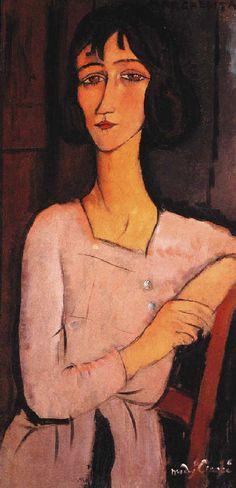 Amedeo Modigliani, Marguerite assise on ArtStack #amedeo-modigliani #art