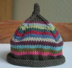 Bonnets à rayures pour bébé - blog de Cachemire-etc Bonnets, Baby Crafts, Crochet Projects, Knit Crochet, Baby Kids, Knitting, Children, Nice Clothes, Cashmere Wool