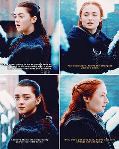 [ 7x07 - The Dragon and the Wolf] — this was one of my favorite moments. #starksisters #aryastark #sansastark #GameofThrones