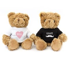 Bride And Groom Teddy Bear Wedding Gift