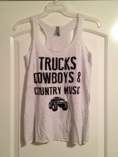 Trucks cowboys and country music tank. Concert by InkLabPrinting