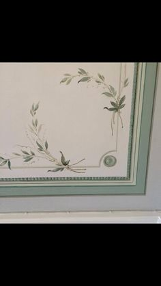 Detail of wallpainting I did 2001 - Gustavian style