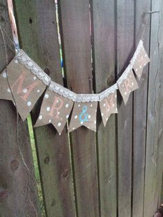 MR & MRS Burlap Banner with Lace - Handmade - Photography Prop #HEPTEAM